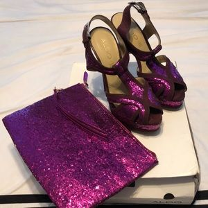 Shoes and matching clutches